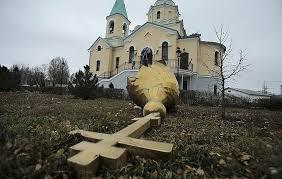 toppled cross