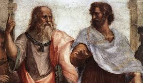 Plato and Aristotle close up